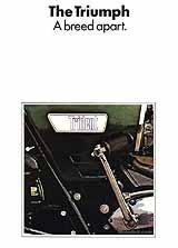 1970 Triumph T150 Trident motorcycle brochure