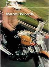 1972 Triumph Bonneville motorcycle UK brochure