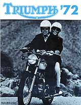 1972 Triumph motorcycle brochure style 2