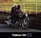 1973 Triumph T150 Trident motorcycle brochure