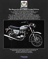 1977 Triumph motorcycle Silver Jubilee brochure