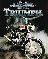1978 Triumph motorcycle brochure