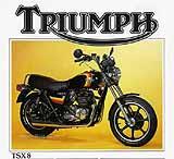 1983 Triumph TSX-8 motorcycle brochure