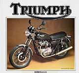 1984 Triumph motorcycle Harris brochure
